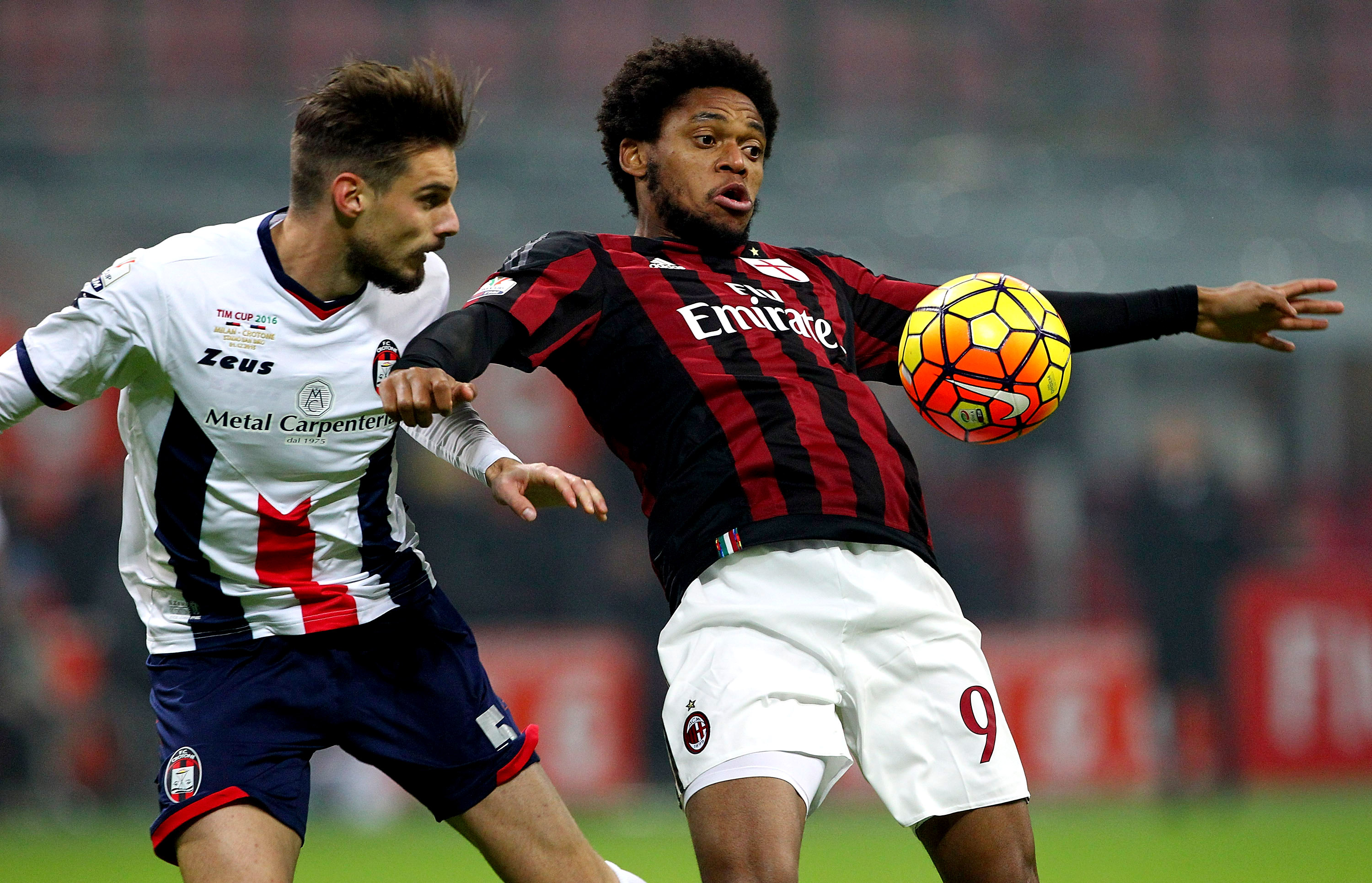 Luiz Adriano in action during the game