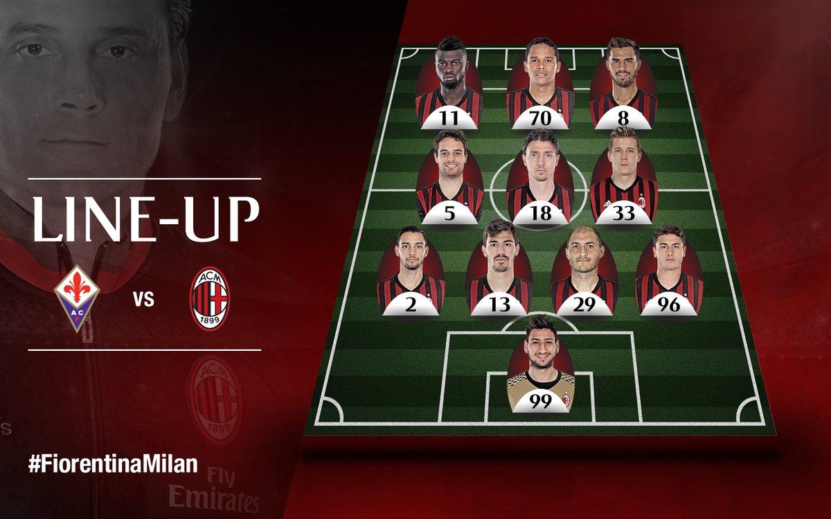 Fiorentina Vs Ac Milan Official Lineup