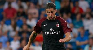 MADRID, SPAIN - AUGUST 11: Ricardo Rodriguez of AC Milan controls the ball during the Santiago Bernabeu Trophy between Real Madrid CF and AC Milan at Estadio Santiago Bernabeu on August 11, 2018 in Madrid, Spain. (Photo by Gonzalo Arroyo Moreno/Getty Images)