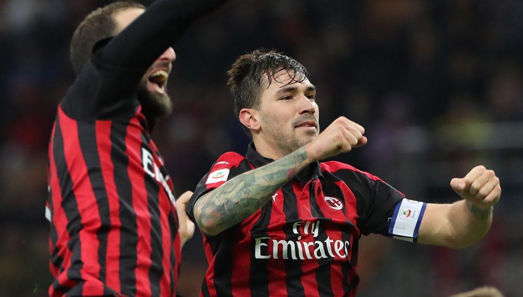 during the serie A match between AC Milan and Genoa CFC at Stadio Giuseppe Meazza on October 31, 2018 in Milan, Italy.