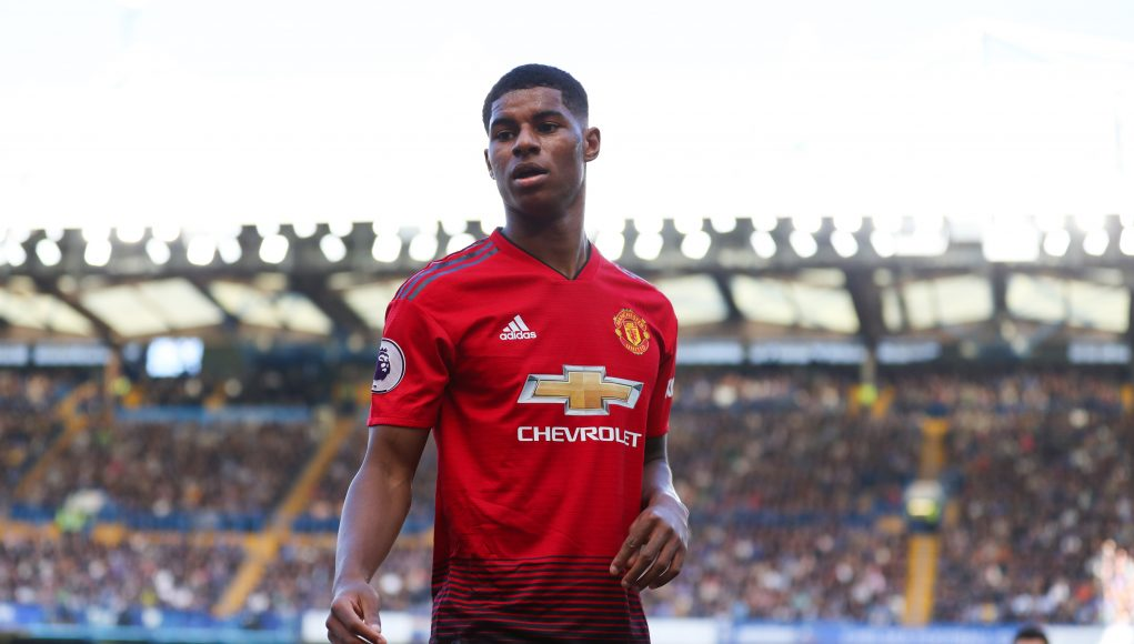 LONDON, ENGLAND - OCTOBER 20: Marcus Rashford of Manchester United during the Premier League match between Chelsea FC and Manchester United at Stamford Bridge on October 20, 2018 in London, United Kingdom. (Photo by Catherine Ivill/Getty Images)