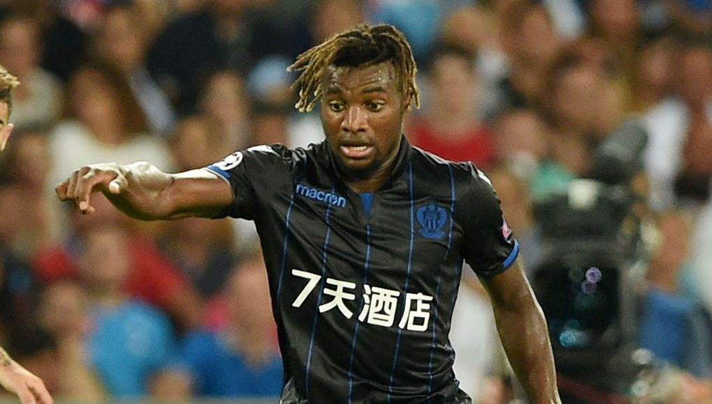 during the UEFA Champions League Qualifying Play-Offs Round First Leg match between SSC Napoli and OGC Nice at Stadio San Paolo on August 16, 2017 in Naples, Italy.