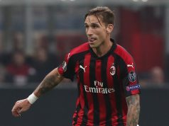 Biglia during the UEFA Europa League Group F match between AC Milan and Real Betis at Stadio Giuseppe Meazza on October 25, 2018 in Milan, Italy.