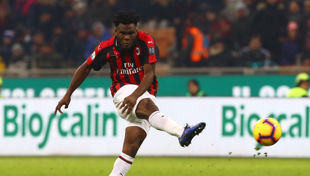 MILAN, ITALY - JANUARY 26: Franck Kessie of AC Milan in action during the Serie A match between AC Milan and SSC Napoli at Stadio Giuseppe Meazza on January 26, 2019 in Milan, Italy. (Photo by Marco Luzzani/Getty Images)