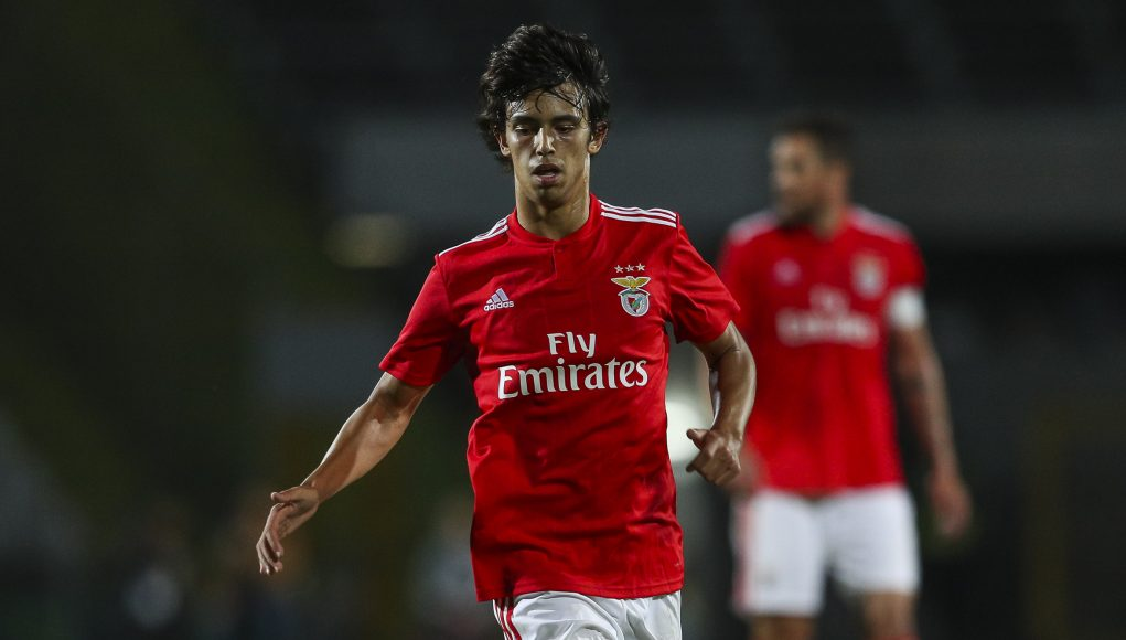 SETUBAL, PORTUGAL - JULY 13: SL Benfica midfielder Joao Felix from Portugal during the match between SL Benfica and Vitoria Setubal FC for the Internacional Tournament of Sadoat Estudio do Bonfim on July 13, 2018 in Setubal, Portugal. (Photo by Carlos Rodrigues/Getty Images)
