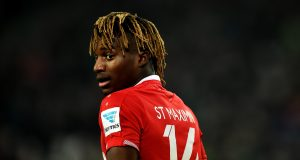HANOVER, GERMANY - JANUARY 23: Allan Irénée Saint-Maximin of Hannover looks on during the Bundesliga match between Hannover 96 and SV Darmstadt 98 at HDI-Arena on January 23, 2016 in Hanover, Germany. (Photo by Stuart Franklin/Bongarts/Getty Images)