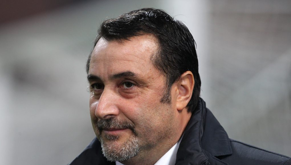MILAN, ITALY - NOVEMBER 23: AC Milan Sportif Director Massimo Mirabelli looks on before the UEFA Europa League group D match between AC Milan and Austria Wien at Stadio Giuseppe Meazza on November 23, 2017 in Milan, Italy. (Photo by Marco Luzzani/Getty Images)