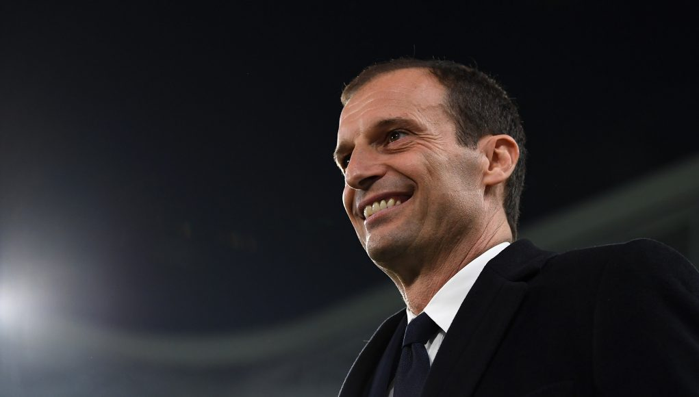 TURIN, ITALY - MARCH 10: Juventus FC head coach Massimiliano Allegri looks on during the Serie A match between Juventus FC and AC Milan at Juventus Stadium on March 10, 2017 in Turin, Italy. (Photo by Valerio Pennicino/Getty Images)