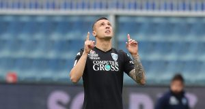 GENOA, ITALY - MAY 12: Rade Krunic of Empoli FC in action during the Serie A match between UC Sampdoria and Empoli at Stadio Luigi Ferraris on May 12, 2019 in Genoa, Italy. (Photo by Gabriele Maltinti/Getty Images)
