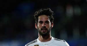 GETAFE, SPAIN - APRIL 25: Isco of Real Madrid CF reacts during the La Liga match between Getafe CF and Real Madrid CF at Coliseum Alfonso Perez on April 25, 2019 in Getafe, Spain. (Photo by Gonzalo Arroyo Moreno/Getty Images)