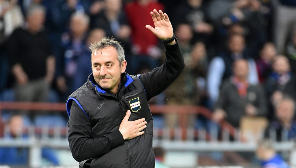 GENOA, ITALY - MAY 26: Marco Giampaolo head coach of UC Sampdoria at the end of Serie A match between UC Sampdoria and Juventus at Stadio Luigi Ferraris on May 26, 2019 in Genoa, Italy. (Photo by Paolo Rattini/Getty Images)
