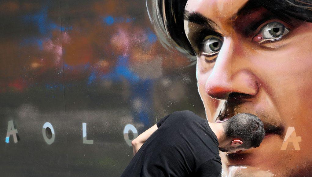 Paolo Maldini AC Milan painting