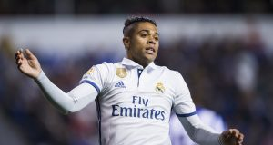 LA CORUNA, SPAIN - APRIL 26: Mariano Diaz of Real Madrid reacts during the La Liga match between RC Deportivo La Coruna and Real Madrid at Riazor Stadium on April 26, 2017 in La Coruna, Spain. (Photo by Juan Manuel Serrano Arce/Getty Images)