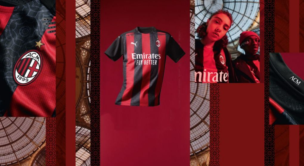 Official: AC Milan reveal 2020-21 home shirt featuring snazzy ...