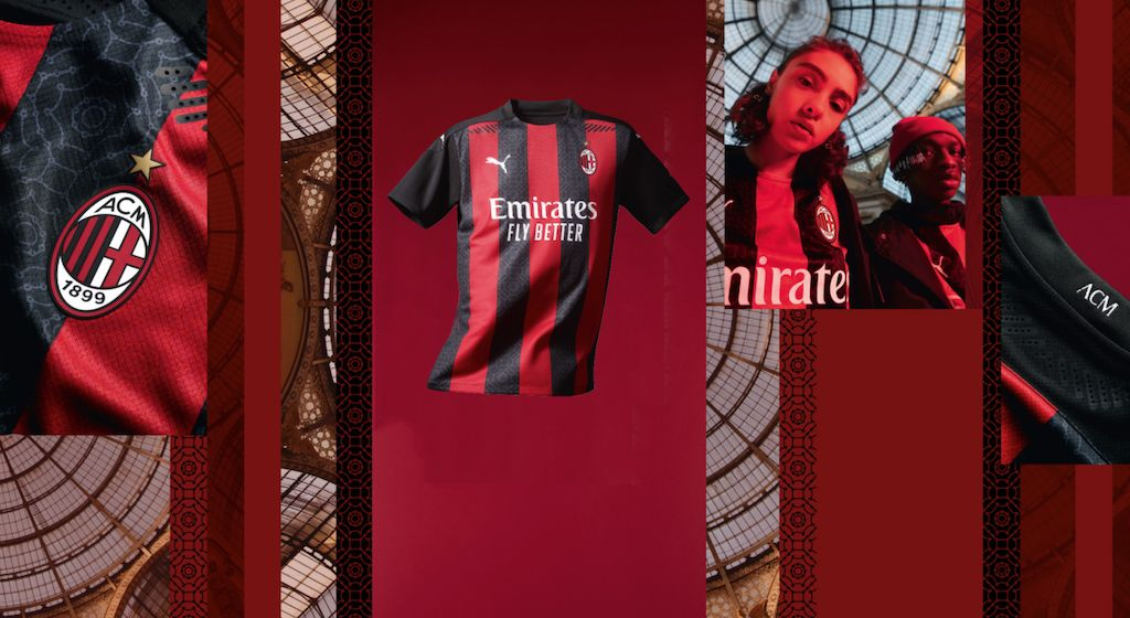 Official Ac Milan Reveal 2020 21 Home Shirt Featuring Snazzy Pattern All The Pictures