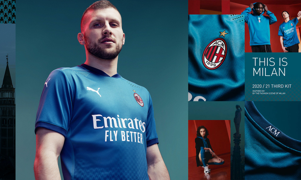 gallery ac milan release new third kit for 2020 21 season with bold two tone blue design ac milan release new third kit for 2020