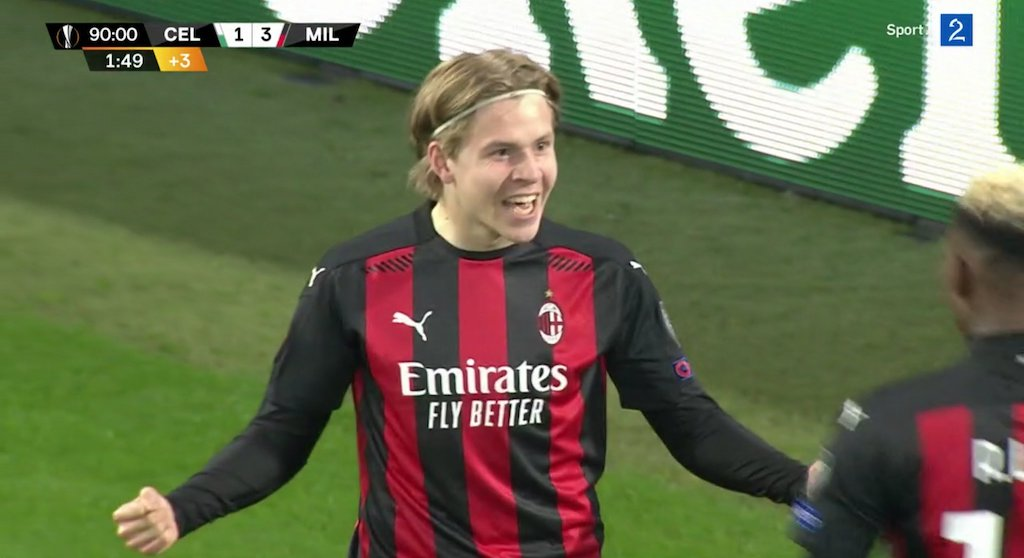 Watch Jens Petter Hauge Scores His First Ever Goal For Ac Milan To Cap Off Win Vs Celtic