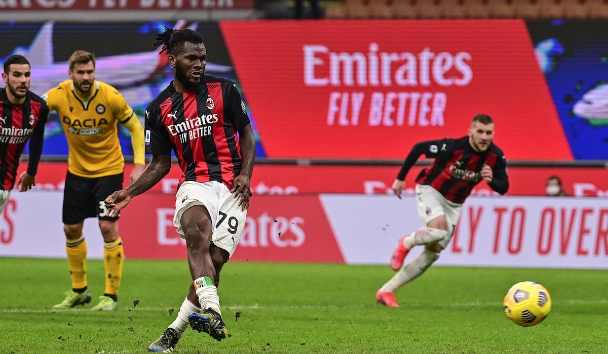 AC Milan 1-1 Udinese: Kessie penalty earns Rossoneri a draw at the death