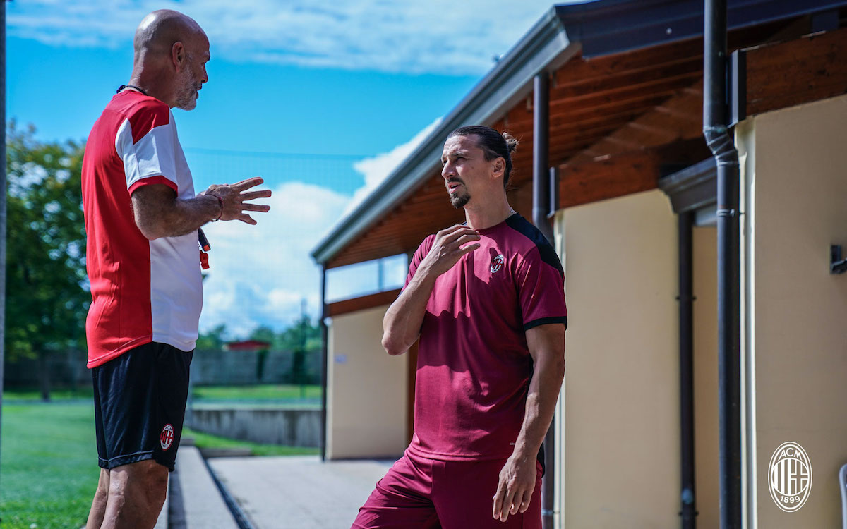 CorSera: Pioli and Ibrahimovic address the squad after Cagliari  disappointment - what was said